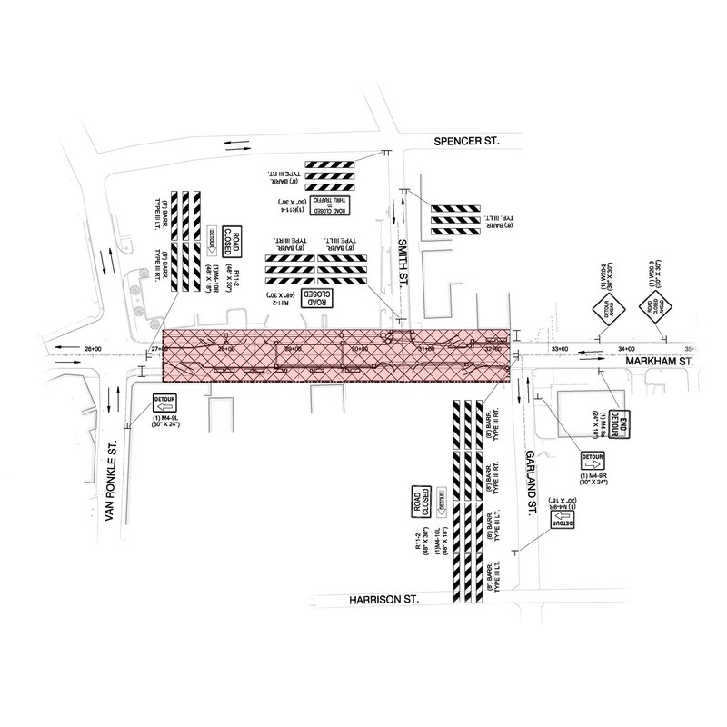 City of Conway Construction Map - Markham Street