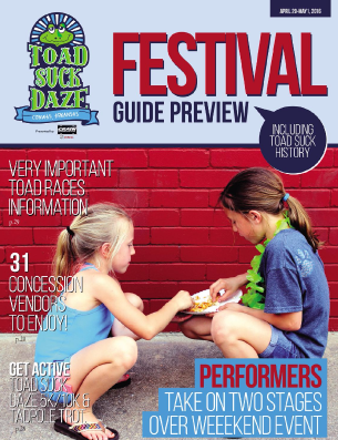 2016 Toad Suck Daze Magazine - produced by the Log Cabin Democrat and the Conway Area Chamber of Commerce