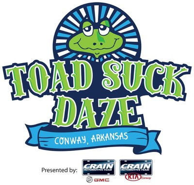 Toad Suck Daze presented by Crain Buick GMC and Crain Kia of Conway is May 5-7, 2017.