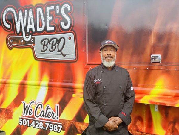 Glen Winston, owner of Wade's BBQ in Conway, Arkansas
